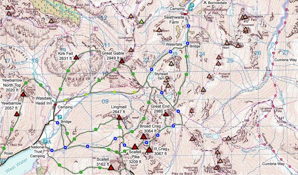 Scafell Pike Map image