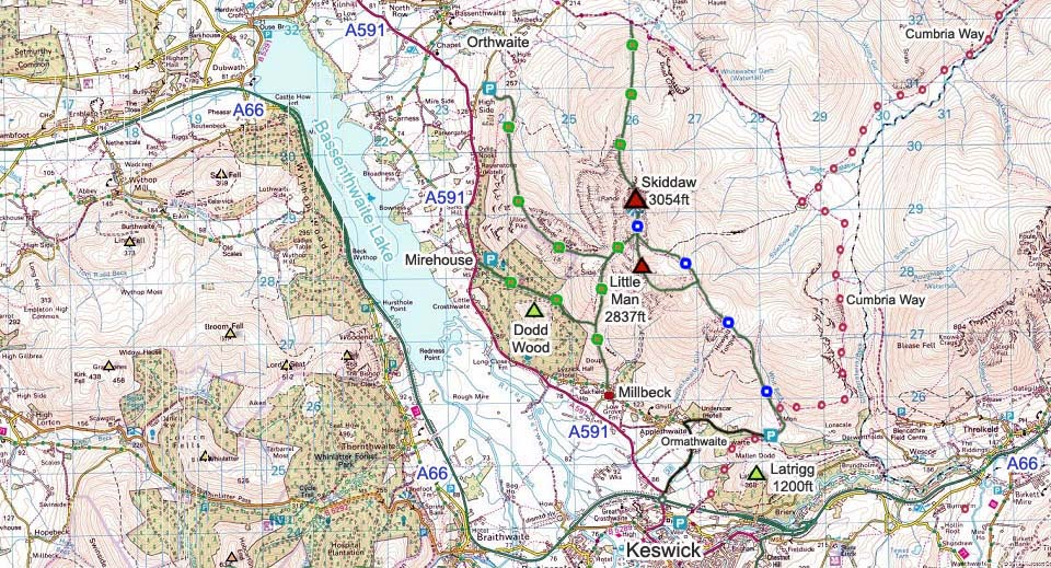 Skiddaw Map image